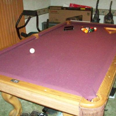Brunswick Clawfoot 8' Foot Regulation Pool Table (SOLD)