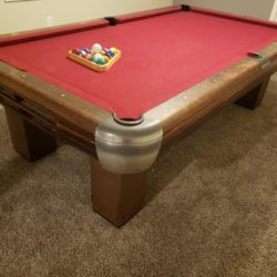 Antique Brunswick Pool Table (SOLD)