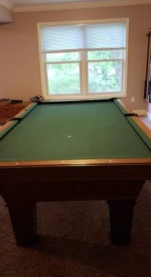 8' Classic Oak Olhausen Pool Table