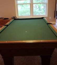 8' Classic Oak Olhausen Pool Table