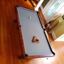 Grey Felt Pool Table