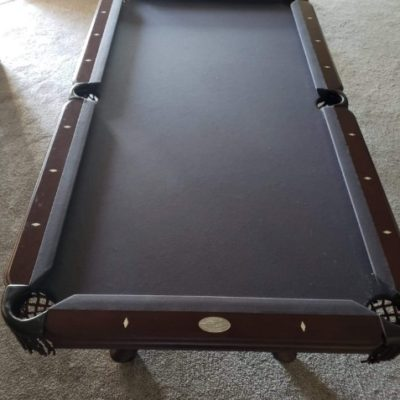 Pool table with slate